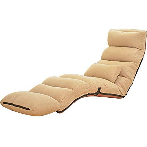 Sofá plegable con ventana para sofá, reclinable, sin piernas, multifunción, multivelocidad, ajustable, 150 kg, Aleación de acero, beige, 82*119*17cm