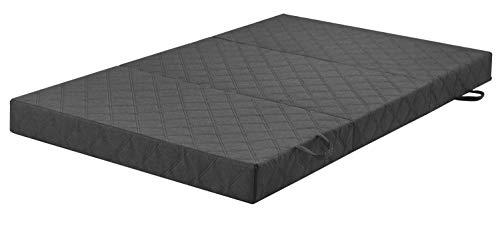 sleepling Komfort Visco Twin Duo - Colchón/taburete para invitados (incluye funda, dureza 2,5, 195 x 120 x 14 cm), color gris