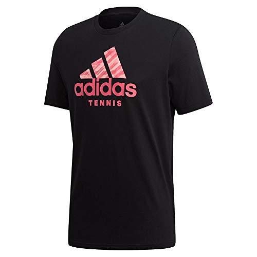 adidas Male Tennis Graphic Logo T-Shirt, Black , M