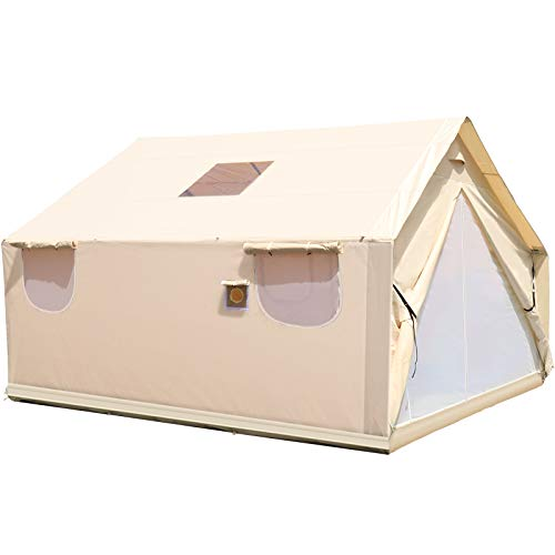 Happybuy Canvas Wall Tent 12x14ft, Wall Tent with PVC Storm...