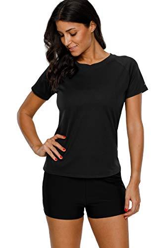 Charmo Damen Rashguard Kurzarm UV Shirt...