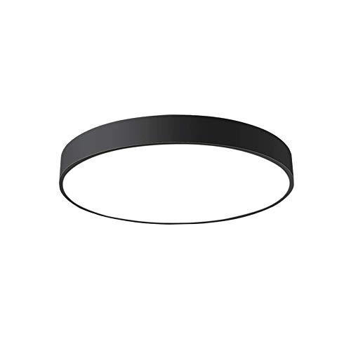 18W LED Deckenleuchte Deckenlampe rund Warmweiß 3000k für küche Dieler Schlafzimmer 30 * 30 * 5cm (Schwarz)