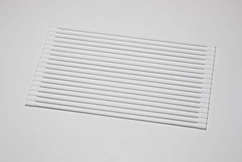 アールシリコン水切りマット52×32㎝(ホワイトSM-601)水切りラックシンク内[折りたたみ/スチール]水切りかご