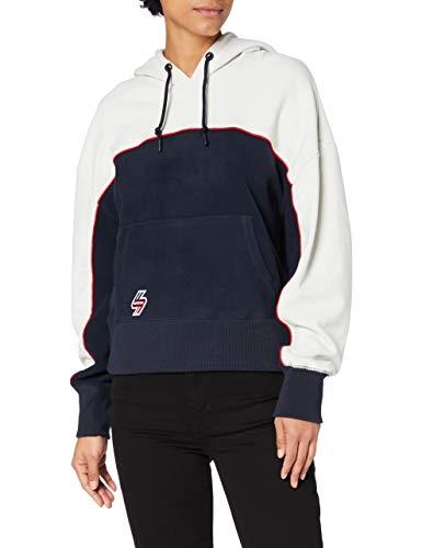 Superdry Womens Sportstyle Hood Hooded Sweatshirt, Deep Navy, 12