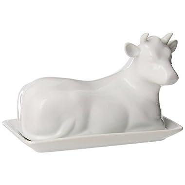 Bijou Ceramic Cow Butter Dish