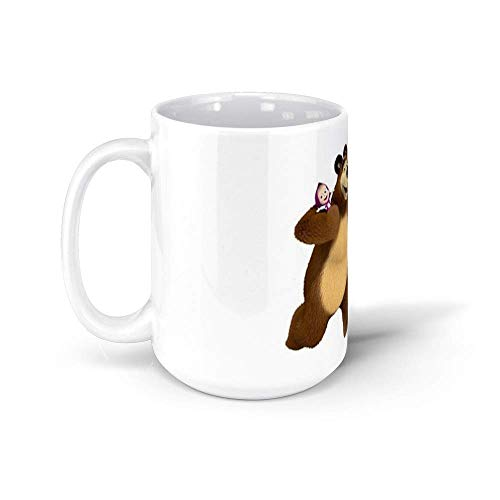 ¡Masha y el oso! masha y el oso 11Oz Ceramic Coffee ^ AQ1