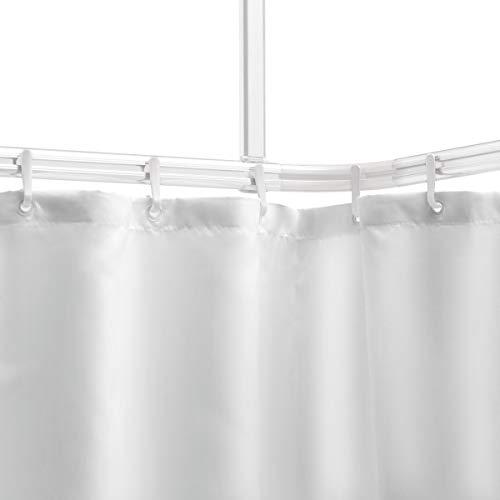 Sealskin Komplett Set Easy Roll Duschvorhangstange, Farbe: weiß, Duschvorhanghalterung zur individuellen Montage auf Maß, Aluminium
