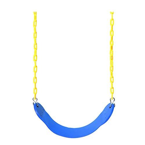 XWF Columpios Columpios para niños Al Aire Libre Columpios para Columpios Combinación de Columpios para Columpios EVA para Exteriores Columpios (Color : Blue)
