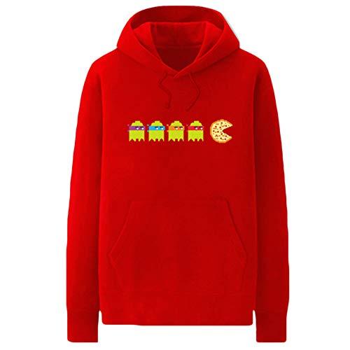 Unisex Pacman Sweatshirt Netter Hoodie Fashion Hoodies beiläufige Sweatshirt Sport-Art Tops for Männer und Frauen Pacman Kapuzenpullover (Color : A12, Size : XXL)