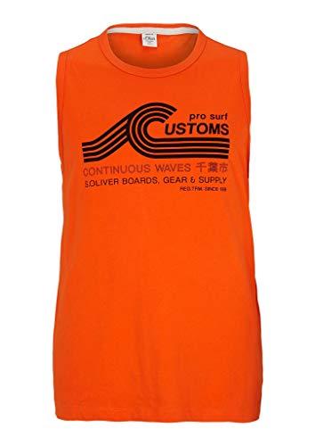 s.Oliver Big Size T-Shirt Ärmellos Regular Fit Canottiera da Donna, 2505 Arancione, 4XL Uomo