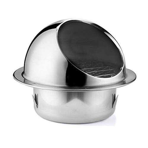For Sale! LXLTL Wall-Mountable Stainless Steel Round Bull-Nose Vent with Louvres Built-in Fly Screen...