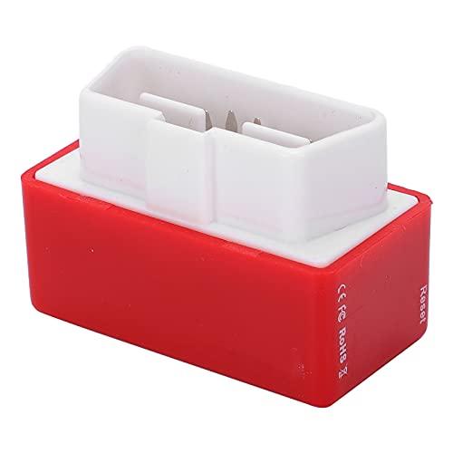Ahorro de diésel, Nitro OBD2 Chip Tuning Box Enchufe ECU Ahorro de energía Accesorio de automóvil económico para diésel rojo