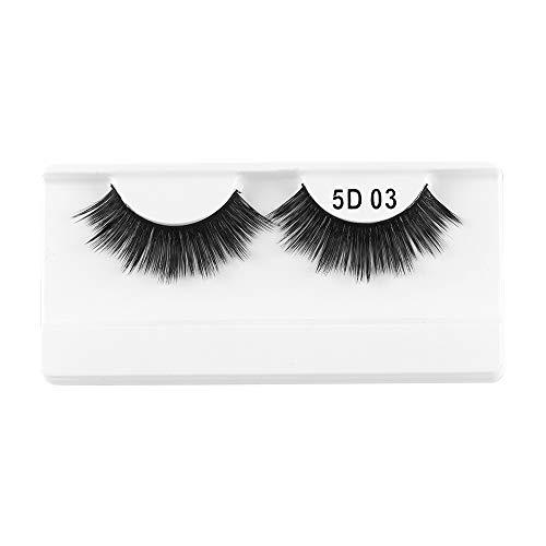 1 paire de cils de vison 3D entrecroisés brins dramatiques à haut volume faux cils yeux outils de maquillage(03)