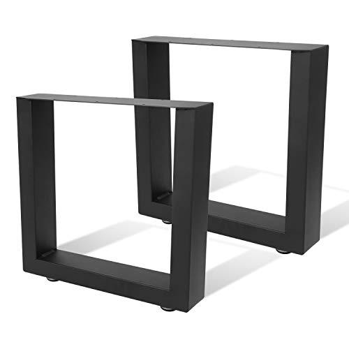 BMOT 2X Tischgestell 64x40cm Tischkufen Stahl, Einfach zu pflegen Platz sparen Tischbeine, für Garten Bank, Esstisch