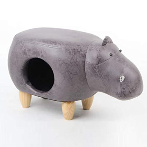 MuXiaRen Hippo Shaped Hocker Katzenbett Multifunktionale Indoor Pet House Kreative Wärme Haus Kätzchen Nest Dual-Use Pet Nest Ändern Schuhe Hocker,Black-M