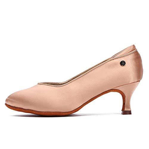 JUODVMP Mujer Cerrado Toe Zapatos de Baile Modernos de Personajes Zapatos de Baile Latino para Mujeres Zapatos de Fiesta de Boda EU 36