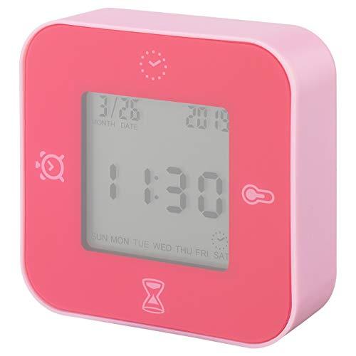 My- Stylo Collection Uhr/Thermometer/Wecker/Timer, Pink, Produktmaße: Breite: 7 cm, Tiefe: 3 cm, Höhe: 7 cm