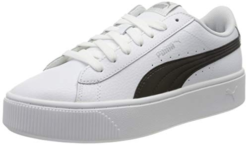 PUMA Vikky Stacked L, Scarpe da Ginnastica Donna, Bianco (Puma White/Puma Black), 42 EU
