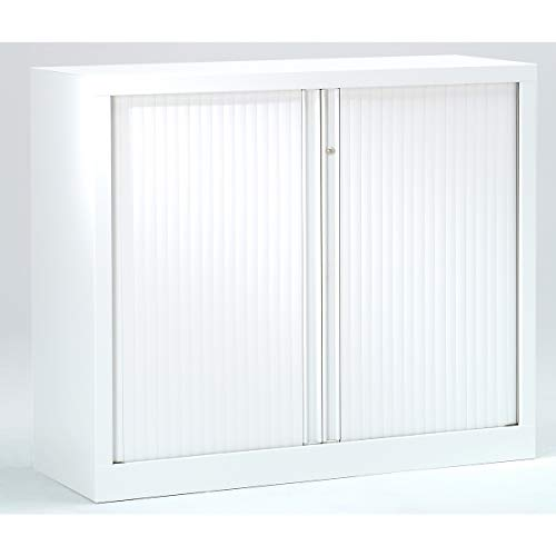 Armoire Monobloc à rideaux | Blanc | HxLxP 1000 x 1200 x 430 | Certeo