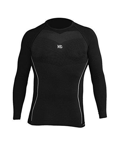 SPORT HG HG-8030 NG Camiseta térmica, Hombre, Negro, L
