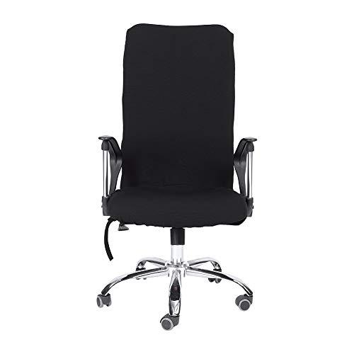 Fdit Stuhlhussen Moderner Simplism-Stil Stretch Drehstuhl Bezüge Bürostuhl Bequeme Sitzbezüge Schwarz L