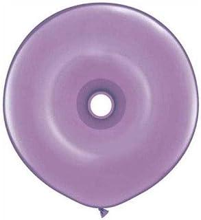 Qualatexラテックスバルーン37695-q Geo donut-springライラック、16インチ、パープル