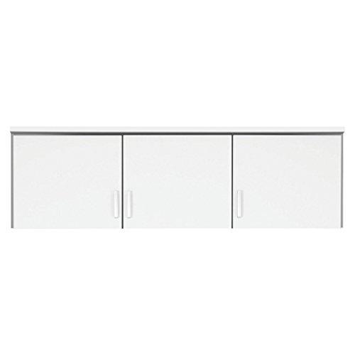 Rauch Möbel Bremen Schrankaufsatz für zusätzlichen Stauraum für den Kleiderschrank 3-türig, Weiß, kombinierbar mit Schrank-Breite 136 cm aus Modellserie Bremen BxHxT 136x39x54 cm