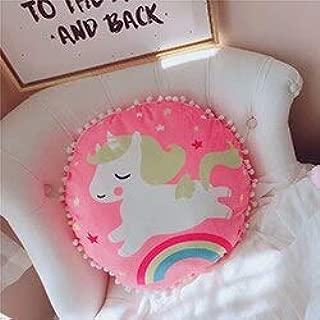 LAJKS Fantasy Emoji Ice Cream Cake Rainbow Cloud Running Unicorn Pattern Round Triangle S D Plush Pillow Colorful Decor Pillow U Must Have Birthday Gifts The Favourite Superhero Party Decorations