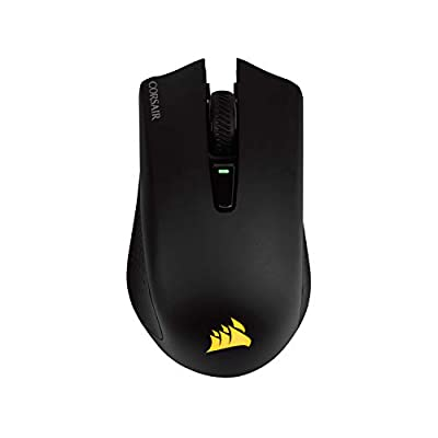 Corsair Harpoon Wireless RGB Wireless Rechargeable Optical Gaming Mouse with Slipstream Technology (10000 DPI Optical Sensor, Backlit RGB Multicolour Lighting) - Black
