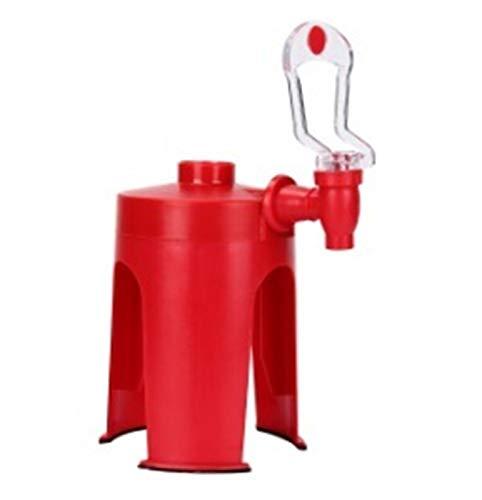 Story Dispensador automático de Bebidas al revés Botella de refresco Dispensador de Beber Presión de Mano Presión de Mano Fuentes de Coque (Color : Red)