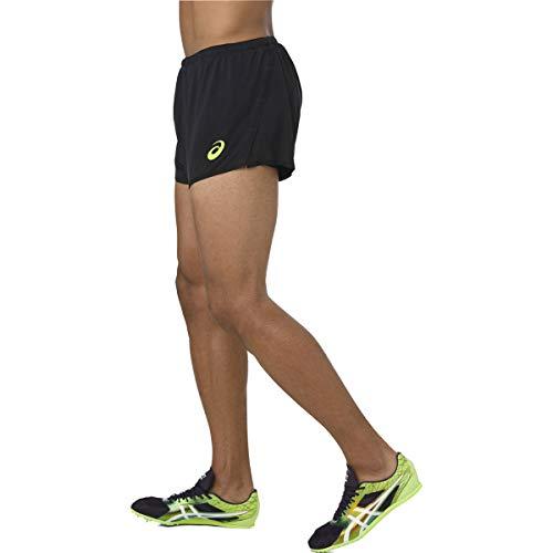 ASICS Knit Short Performance Black Hazard Green M