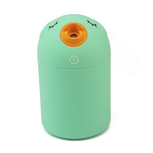 Yuqianjin De Vapor frío Humidifier- Mini USB humidificador humidificador ultrasónico de Escritorio - Easy Clean Sin Filtro humidificador de Aire Home Office (Color : Green)