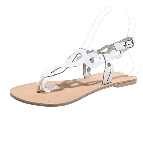 SMENGG Sandali Gladiatore Stile Casual Donna Estate Scarpe Sandali Gladiatore Stile Romano Boho(38)