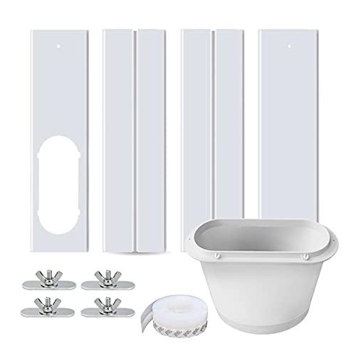 Chrty Kit de sellado de ventana de aire acondicionado para aire acondicionado portátil, panel ajustable universal, accesorios reemplazables para manguera de escape fácil instalación