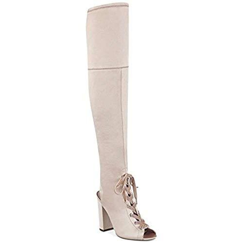 Guess Frauen Calene Peep Toe Satin Fashion Stiefel Pink Groesse 5.5 US /36 EU
