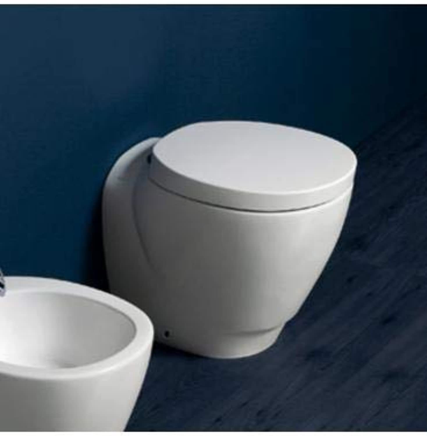 Simas - Floor Standing Toilet Back to Wall Floor Standing, Simas Bohemien - White, Without Toilet seat, in Stock