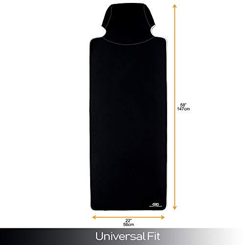 Gorla Gear Black Premium Universal Fit Waterproof Stain Resistant Car Seat Cover Neoprene Non-Slip Bucket Seat Dog