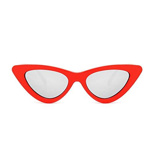 Sonnenbrille Polarisiert für Damen/Dorical Cateye Bonbonfarben Kleiner Rahmen Gläser Sonnenbrille mit UV-400 Schutz Vintage Brille Frauen Sunglasses Travel Eyewear(L)