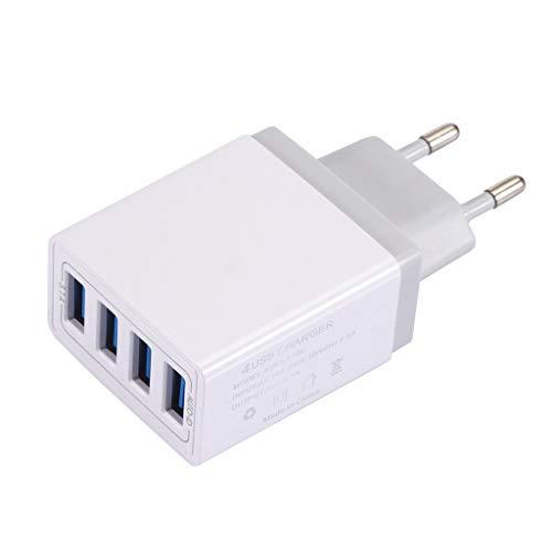 HSKB USB Ladegerät, Quick Charge 3.0 15,5 W USB Ladeadapter 4 Ports USB Netzteil mit Intelligent Laden für iPhone XR/XS/X/8Plus/8/7,iPad Air, für Samsung Galaxy S9+/S8/S7, für Huawei usw (Weiß)