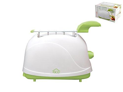 Dcg KT1200 Tostafette Elettrico pinze 500w Elettrodomestici per la casa, Plastica, Acciaio Inossidabile, 2 Scomparti, Bianco