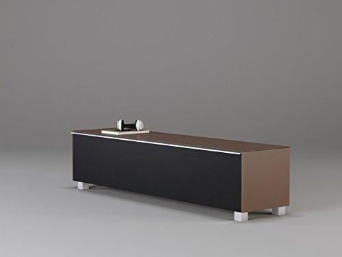 Preisvergleich Produktbild TV-Board Soundboard MAJA Soundconcept verschiedene Farben mit Akustikstoff schwarz in 140x43x42cm oder 180x43x42cm (180,  Glas sand)