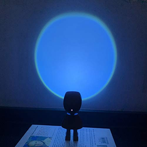 360 Degree Rotating Projector Lamp Family Party Living Room Bedroom Decoration USB Romantic Visual Night Lights for Living Room Bedroom Decor (G)