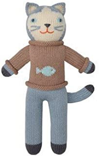 Blabla Sardine The Cat Mini Plush Doll - Knit Stuffed Animal for Kids. Cute, Cuddly & Soft Cotton Toy. Perfect, Forever Cherished. Eco-Friendly. Certified Safe & Non-Toxic.