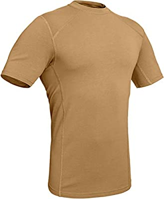 281Z Military Stretch Cotton Underwear T-Shirt - Tactical Hiking Outdoor - Punisher Combat Line (Coyote Brown, Large)