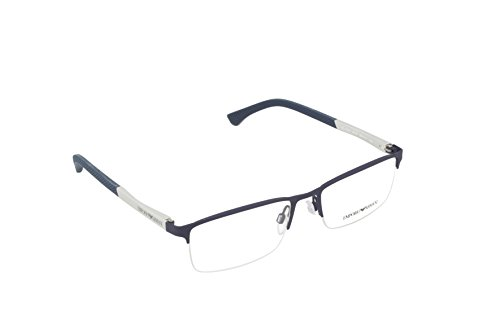 EMPORIO ARMANI 0EA1041 Monturas de Gafas, Blue Rubber, 55 para Hombre