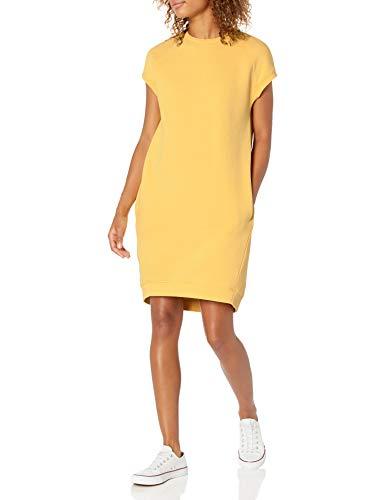 Goodthreads Modal Fleece Short-Sleeve Cocoon with Pockets Dresses, zitronengelb, S