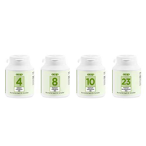Schüssler Salze Magen-Darm-Kur | Nr. 4, 8, 10 und 23 je 400 Tabletten | glutenfrei