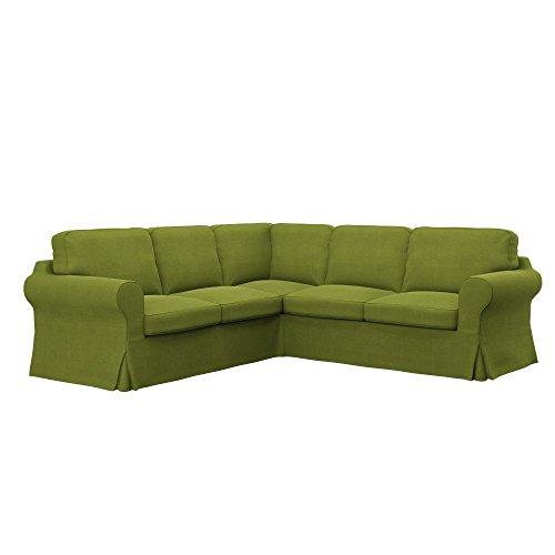 Soferia Bezug fur IKEA EKTORP 2+2 Ecksofa, Stoff Elegance Green