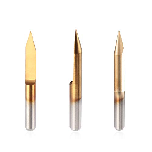 Zen Toolworks PCB Endmill 1.0mm Set of 10 Acrylic Wood Engraving On Brass For Milling Aluminum