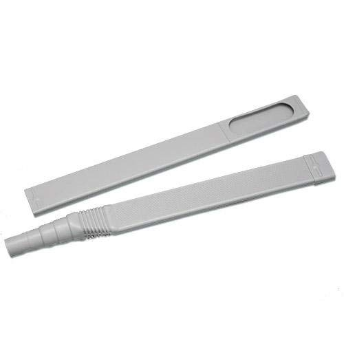 """Gadjit Exten Vac Flat Vacuum Cleaner Attachment Hose Extender (Gray)- 36"""" Reach Under Fridge and Heavy Furniture, Vacuums Up Dirt and Dust Bunnies, Great for Big and Small Cleaning Projects"""